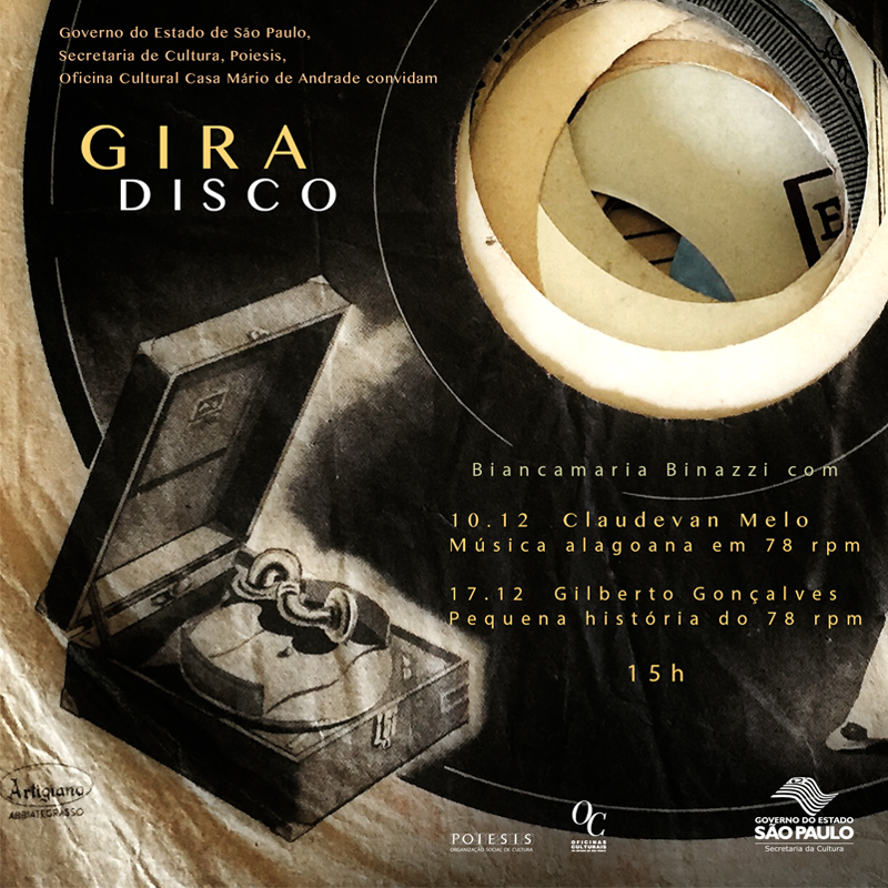 Ciclo Gira-DIsco na Oficina Cultural Casa Mário de Andrade